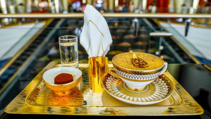 The Ultimate Gold Cappucinno Burj Al Arab
