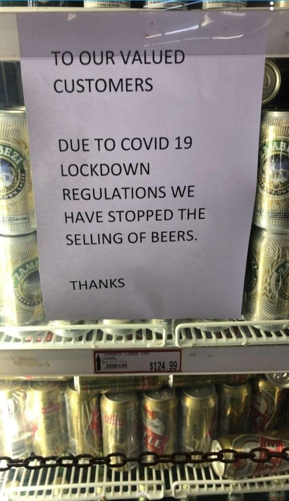 alcohol ban Zimbabwe