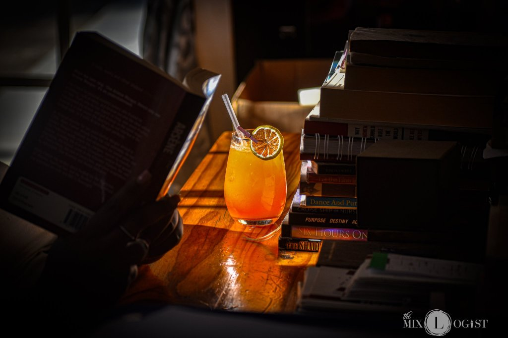 Skinny sunset cocktail