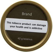 Sample warning on Snus Brand: This tobacco product can damge your health and is addictive