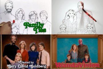 family ties wandavision opening sequence