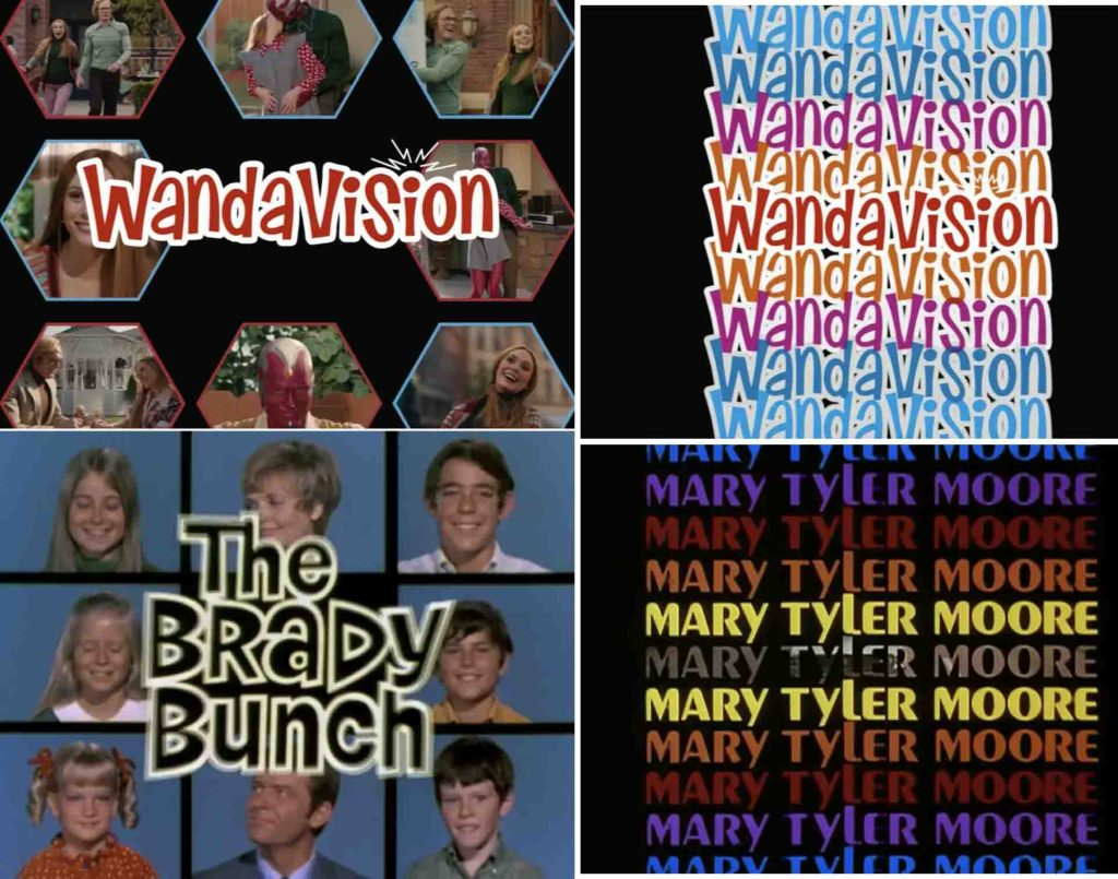 wandavision The brady bunch mary tyler show opening sequence