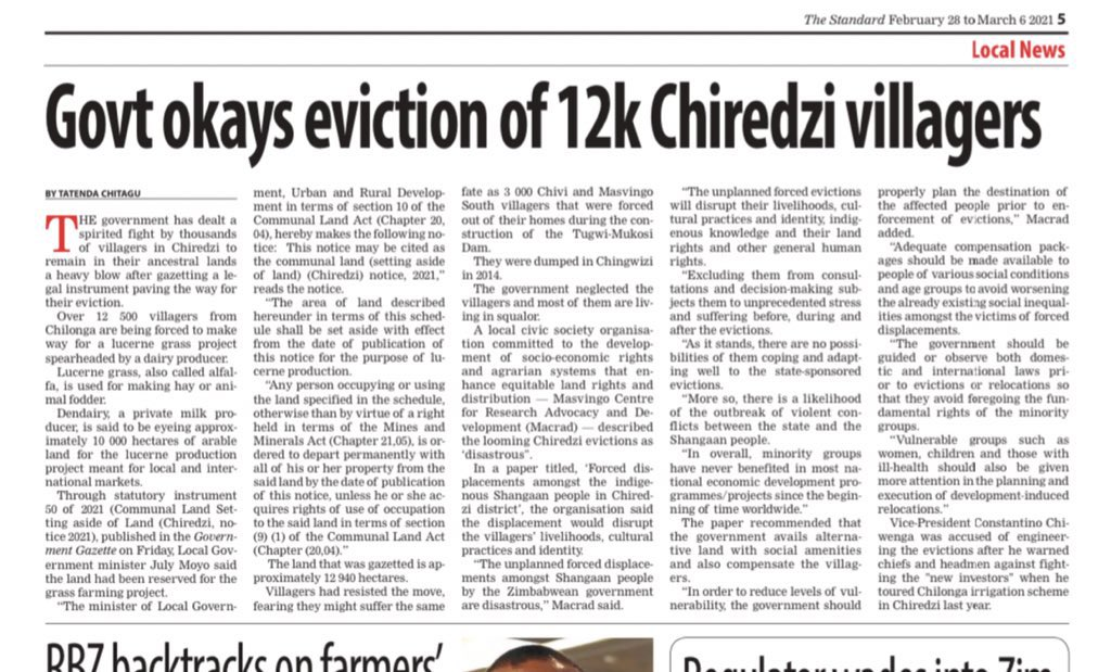 Govt okays eviction of 12000 villagers