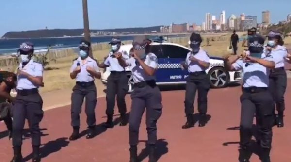 Metro Police Officers doing the Jerusalema Dance Challenge