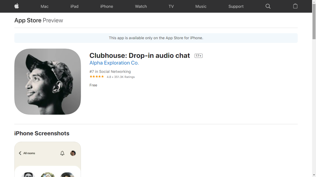 Clubhouse audio chat
