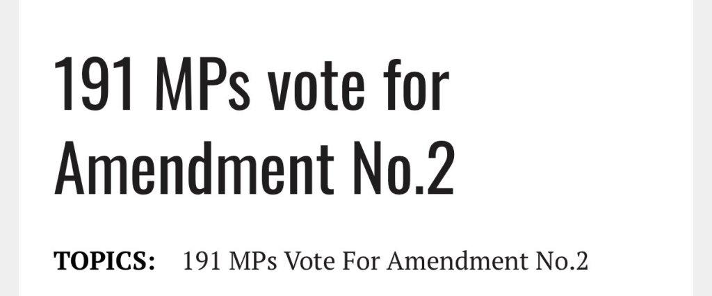191 mps vote for amemendment number 2