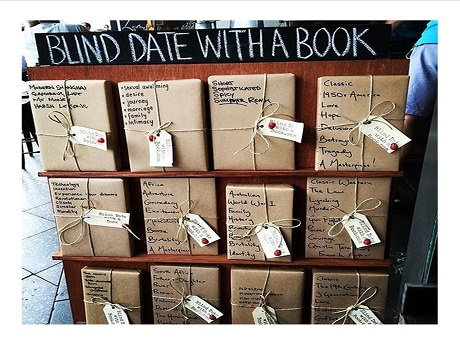 Blind date with a book  books covered in brown paper