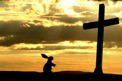 easter eggs, easy bunny and the cross