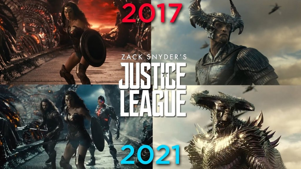 2017 justice league vs 2021 Justice league