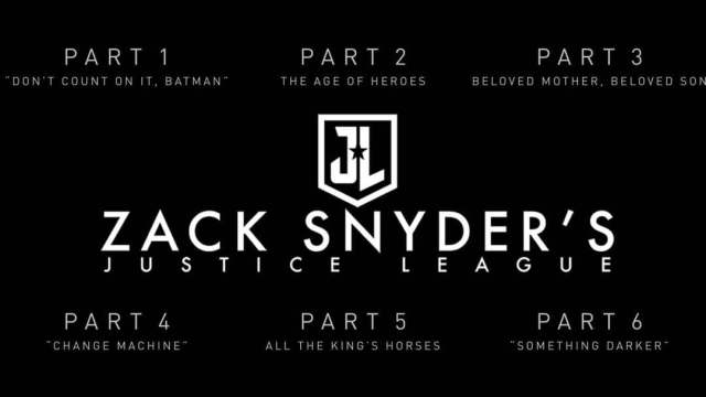 6 parts of Zack snyder's Justice league