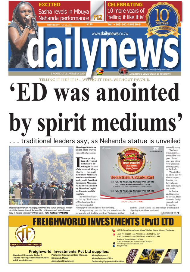 ED was anointed by spirit mediums