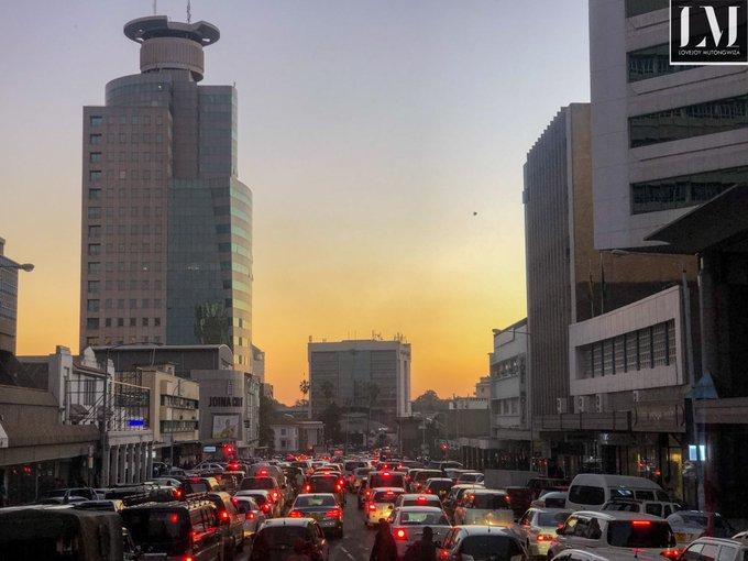 Harare Evening Traffic Zimbabwe