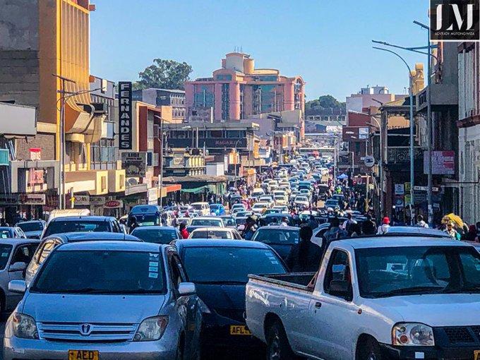 Harare Morning Traffic Zimabbwe
