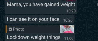 lock down weight gain gtoup chat