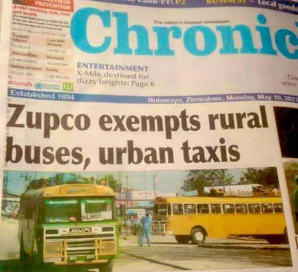 ZUPCO exempts rural buses