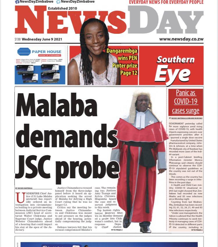 Chief Justice Malaba demands JSC probe