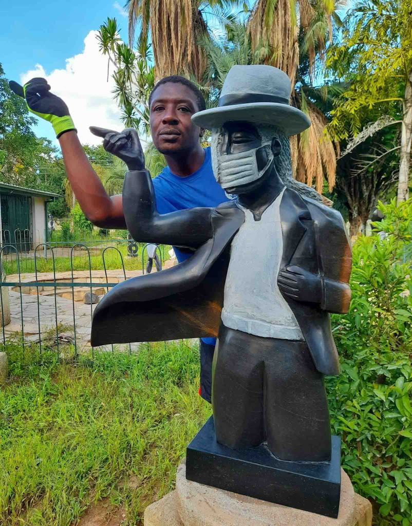 MJ mask up micheal jackson sculpture David Ngwerume