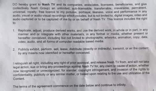 Masht tv artist contract