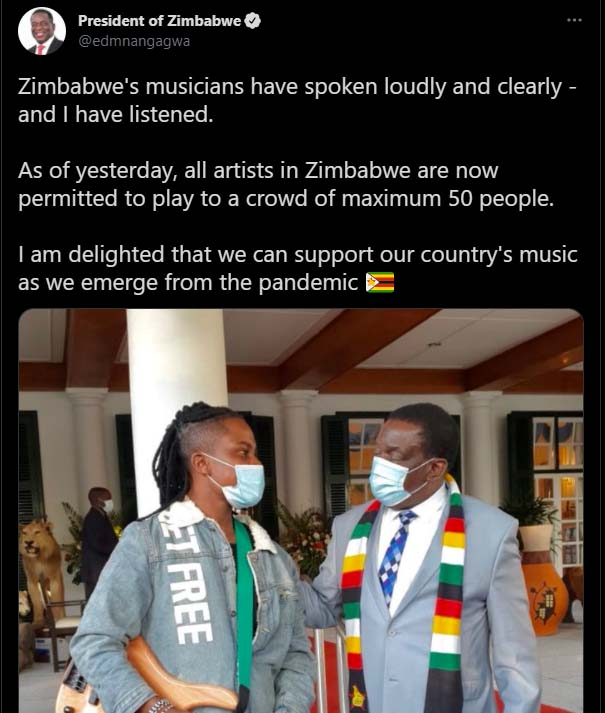 President supports musicians