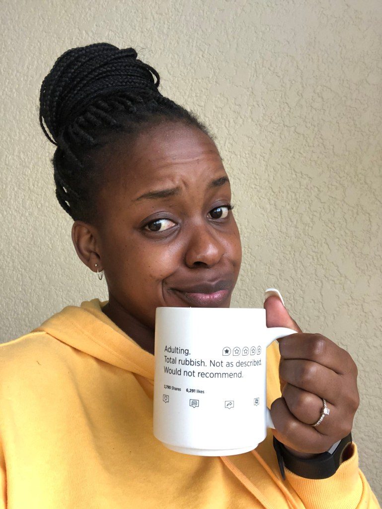 Chengetayi Pineapple Creative Studio  Adulting Total Rubbis Coffee Mug
