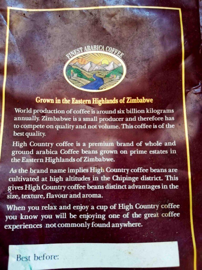 High Country Arabica  Eastern Highlands