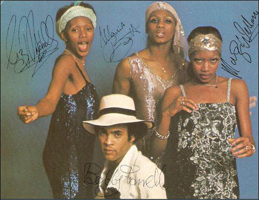 Boney Liz Mitchell, Marcia Barrett, Maizie Williams and Bobby Farrell