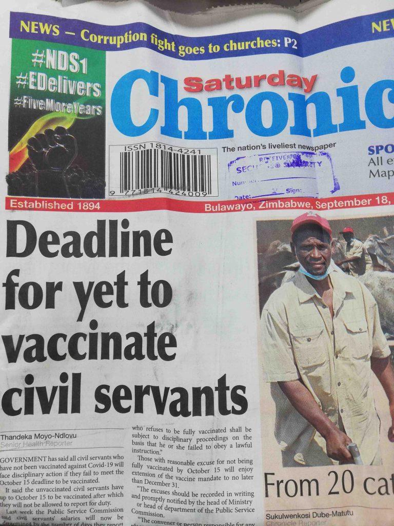 deadline for yet to vaccinate civil servants