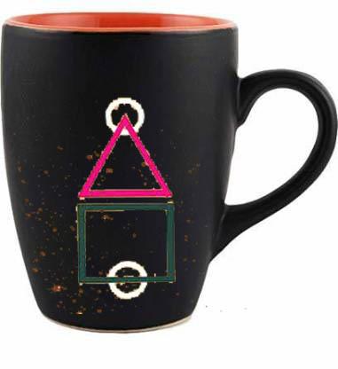 Squid game coffee mug circle triangle square